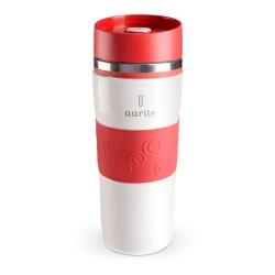 Termohrnček Aurile 380 ml, Biela & červená