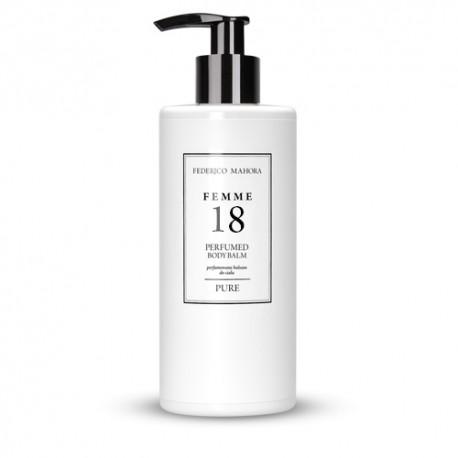 FM 18 dámsky parfumovaný telový balzam 300 ml, inšpirovaný vôňou Chanel - Coco Mademoiselle