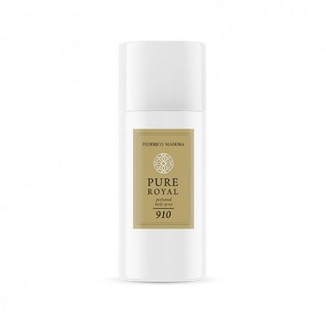 FM 910 Pure Royal Unisex telový sprej 150 ml, inšpirovaný vôňou Kurkdjian - Baccarat Rouge 540